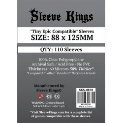 """Протектори за карти Sleeve Kings """"Tiny Epic Compatible"""" Card Sleeves (88x125mm) 110 Pack, 60 Microns в Други размери"""