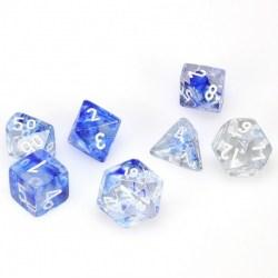 D&D Dice Set: Chessex - Dark Blue/White Nebula in Dice sets