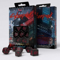 Cyberpunk Red RPG Dice Set (7ct) in Dice sets