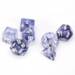 D&D Dice Set: Chessex - Black/White Nebula in Dice sets