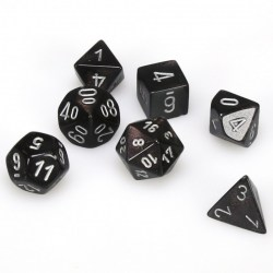 D&D Dice Set: Chessex Borealis - Smoke/silver in Dice sets