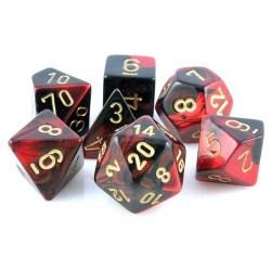 D&D Dice Set: Chessex Gemini - Black-Red w/ Gold in D&D Dice Sets
