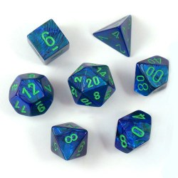 D&D Dice Set: Chessex Menagerie #8 - Lustrous Dark Blue/Green in Dice sets