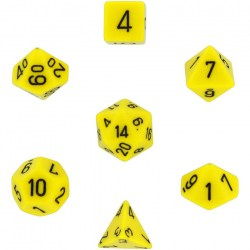 D&D Dice Set: Chessex Opaque - Yellow/Black in Dice sets