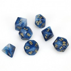 D&D Dice Set: Phantom Teal/Gold in Dice sets