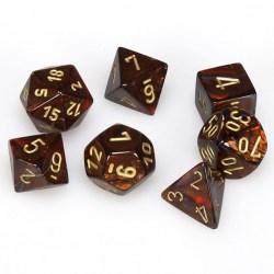 Комплект D&D зарове: Chessex Scarab Blue Blood & Gold в Аксесоари / Зарове за игри