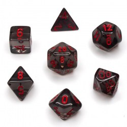 Комплект D&D зарове: Chessex Translucent Smoke & Red в Зарове за игри