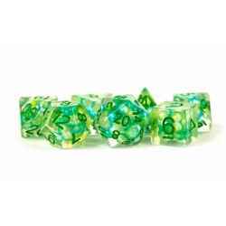 Комплект D&D зарове - Pearl Sea Foam 16mm Resin Poly Dice Set в Зарове за игри