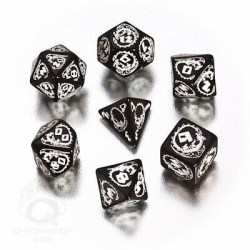 Комплект D&D зарове: Q-Workshop Dragons Dice Set (White & Black)