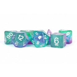 Комплект D&D зарове: Unicorn Resin Polyhedral Dice Set Aurora в Зарове за игри