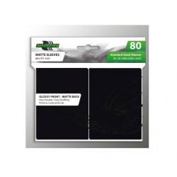 Протектори за карти 63.5x88мм Blackfire Standard Sleeves - Black Sleeves (80 броя, черни)