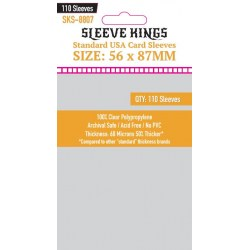 Sleeve Kings Standard USA Card Sleeves (56x87mm) 110 Pack, 60 Microns in Standard American Board Games (56x87мм)
