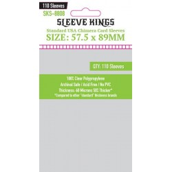Sleeve Kings Standard USA Chimera Card Sleeves (57.5x89mm) 110 Pack, 60 Microns in Chimera Board Games (57x89мм, 57.5x89мм)
