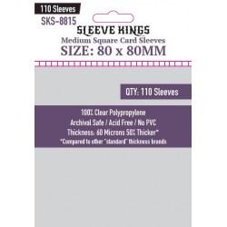 Протектори за карти Sleeve Kings Medium Square Card Sleeves (80x80mm) 110 Pack, 60 Microns в Други размери