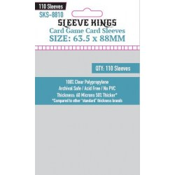 "Sleeve Kings Magnum ""Standard TCG Size"" Card Sleeves (63.5x88mm) 110 Pack, 60 Microns"