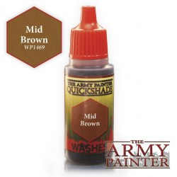 Army Painter Quickshade Washes - Mid Brown (18ml) в Army Painter акрилни бои
