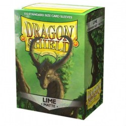 Dragon Shield Standard Sleeves - Matte Lime - 100 per pack in Standard Size (Magic, LCG игри и др., 63.5x88мм размер на картите)