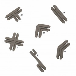 Battle Systems: Plastic Terrain Clips - Brown in Battle Systems
