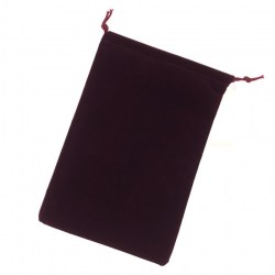 """Chessex Large Suedecloth Dice Bag - Burgundy (5""""x7"""") in D&D Dice Sets"""