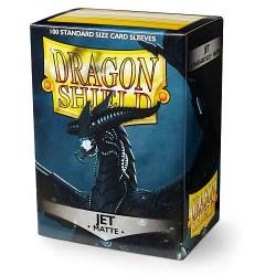 Dragon Shield Standard Sleeves - Matte Jet Black - матови протектори за карти (черни) 100 бр. в LCG, 63.5x88 мм)