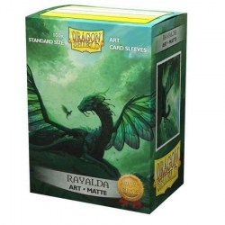 Dragon Shield Rayalda Art Sleeves - 100 premium art sleeves in Standard Size (Magic, LCG игри и др., 63.5x88мм размер на картите)