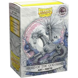 Dragon Shield Standard Sleeves - Matte Art Sleeves - Word of the God Hand - 100 per pack in Standard Size (Magic, LCG игри и др., 63.5x88мм размер на картите)