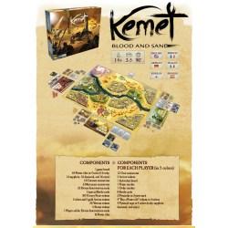 Kemet: Blood and Sand (Kickstarter Edition + SGs, 2021) - настолна игра