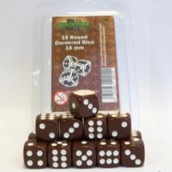 Blackfire Dice - 16mm D6 Dice Set - Brown (15 Dice) in Dice sets