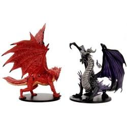 Pathfinder Battles: City of Lost Omens - Adult Red & Black Dragons Premium Set в D&D и други RPG / D&D Миниатюри