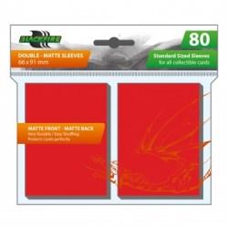 Протектори за карти Blackfire Standard Double-Matte Red Sleeves 66x91mm (80 броя, матови, червени, плътни)