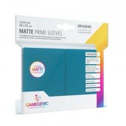 Протектори за карти Gamegenic Matte Prime Sleeves Blue 66x91mm (100 броя, матови, сини, плътни)