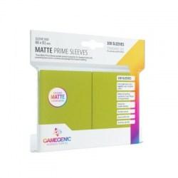 Протектори за карти Gamegenic Matte Prime Sleeves Green 66x91mm (100 броя, матови, ярко зелени, плътни) в LCG, 63.5x88 мм)