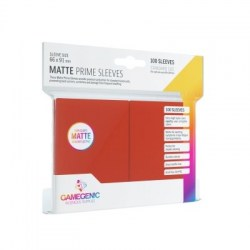 Gamegenic Matte Prime Sleeves Red 66x91mm (100 premium sleeves) in Standard Size (Magic, LCG игри и др., 63.5x88мм размер на картите)