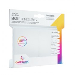 Протектори за карти Gamegenic Matte Prime Sleeves White 66x91mm (100 броя, матови, бели, плътни) в LCG, 63.5x88 мм)
