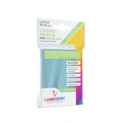 Протектори за карти Gamegenic Prime Standard American Sleeves 59x91mm  (50 броя, за настолни игри, прозрачни, плътни) в Протектори