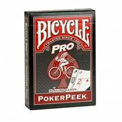 Bicycle Pro: Poker Peek Playing Card Deck - Red в Карти за игра