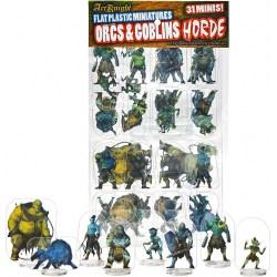 Arcknight Flat Plastic Miniatures: Orcs and Goblins Horde (31 standees) в D&D и други RPG / Pathfinder / D&D Pawns