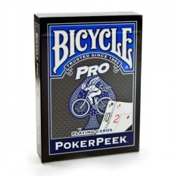 Bicycle Pro: Poker Peek Playing Card Deck - Blue