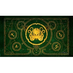 Infinite Black: The Brand of Cthulhu (Drowed Green) Premium Stitched Playmat (59x36cm) в Аксесоари