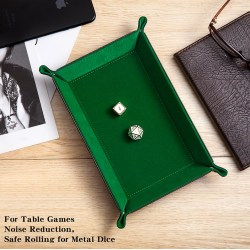 "Dice Habit: Velvet Folding Dice Tray 8.86""x5.9"" - Green"