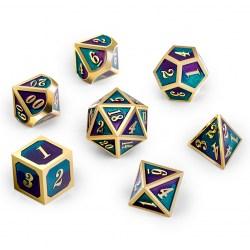 Metal & Enamel 7 Dice Set: Jester in D&D Dice Sets