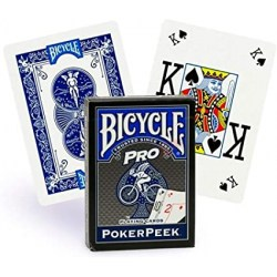 Bicycle Pro: Poker Peek Playing Card Deck - Blue в Карти за игра