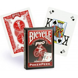 Bicycle Pro: Poker Peek Playing Card Deck - Red