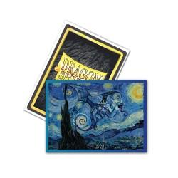 Dragon Shield Standard Sleeves - Brushed Art Clear Sleeves - Starry Night - протектори за карти 100 бр. в LCG, 63.5x88 мм)