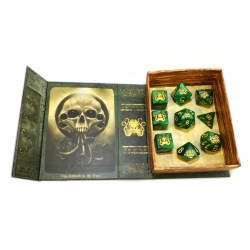 Комплект D&D зарове: Elder Dice Brand of Cthulhu - Drowned Green Polyhedral Set в D&D и други RPG / D&D Зарове