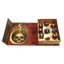 Комплект D&D зарове: Elder Dice Mark of the Necronomicon - Blood and Magick Polyhedral Set в Зарове за игри