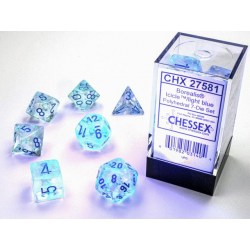 Комплект D&D зарове: Chessex Luminary Borealis Icicle & Light Blue (Glowing/Sparkle) в Зарове за игри