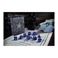 Комплект D&D зарове: Elder Dice Astral Elder Sign - Blue Polyhedral Set в D&D и други RPG / D&D Зарове