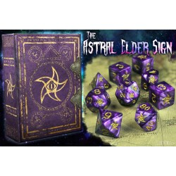 Комплект D&D зарове: Elder Dice Astral Elder Sign - Mystic Purple Polyhedral Set в D&D и други RPG / D&D Зарове
