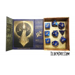 Комплект D&D зарове: Elder Dice Elder Sign - Blue Aether Polyhedral Set в D&D и други RPG / D&D Зарове